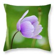 Purple Flower Looking Right Side Throw Pillow