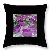 Purple Flower Wishes Throw Pillow