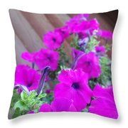 Purple Flowers 1 Throw Pillow