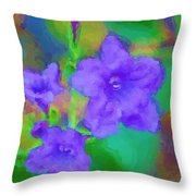 Purple Flowers 102310 Throw Pillow