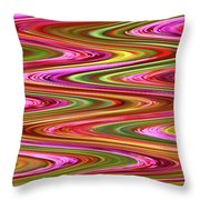 Purple Flowers Abstract Throw Pillow
