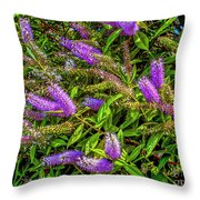 Purple Flowers Of Chiloe Throw Pillow