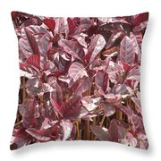 Purple Foliage Throw Pillow