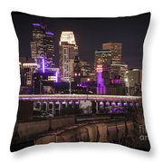 Purple For Prince Throw Pillow