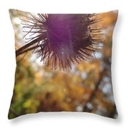 Purple Fuzzy Throw Pillow