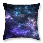 Purple Galaxy Throw Pillow