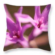 Purple Garlic Throw Pillow