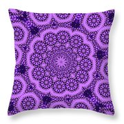 Purple Geek Kaleidoscope Five Throw Pillow