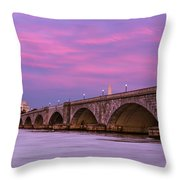 Purple Glow Throw Pillow
