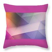 Purple Gradient Polygon - 2212 Throw Pillow
