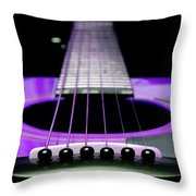 Purple Guitar 15 Throw Pillow by Andee Design