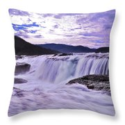 Purple Haze Waterfall Throw Pillow