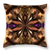 Purple Heart Design Throw Pillow