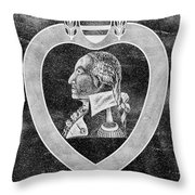 Purple Heart Emblem Polished Granite Throw Pillow