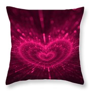 Purple Heart Valentine's Day Throw Pillow