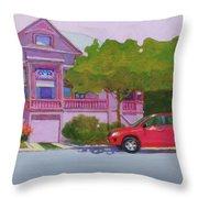 Purple House, Alameda Throw Pillow