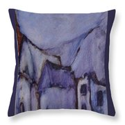 Purple Hut Throw Pillow