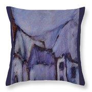 Purple Hut Throw Pillow