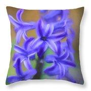 Purple Hyacinths Digital Art Throw Pillow