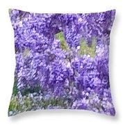 Purple Impression  Throw Pillow