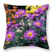 Purple In Garden Throw Pillow