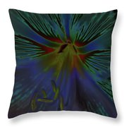 Purple In The Lily Throw Pillow