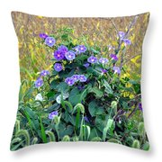 Purple In The Morning Throw Pillow