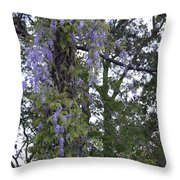 Purple In The Trees Throw Pillow