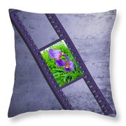 Purple Iris Passion Throw Pillow