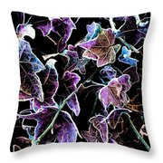 Purple Ivy Throw Pillow