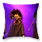 Purple Ladies Throw Pillow