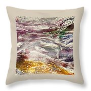 Purple Land Throw Pillow