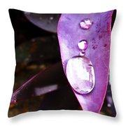 Purple Leaf Throw Pillow