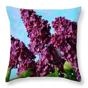 Purple Lilac 2 Throw Pillow