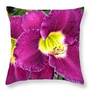Purple Lilies Throw Pillow