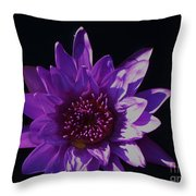 Purple Lily Monet Throw Pillow
