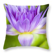 Purple Lotus Blossom Throw Pillow