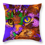 Purple Love. Pet Series Throw Pillow
