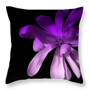 Purple Magnolia 2 Throw Pillow