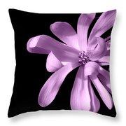 Purple Magnolia Throw Pillow