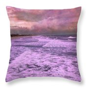 Purple Majesty  Throw Pillow by Betsy Knapp