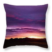 Purple Majesty Sunset Throw Pillow