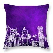 Purple Manhattan Throw Pillow