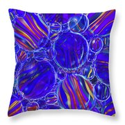 Purple Marbles Shower Curtain Throw Pillow