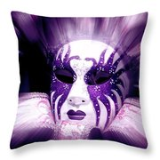 Purple Mask Flash Throw Pillow