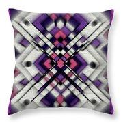 Purple Maze Throw Pillow