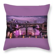 Purple Minneapolis For Prince Throw Pillow