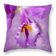 Purple Mist Orchid Throw Pillow