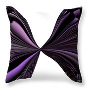 Purple Monarch Butterfly Abstract Throw Pillow