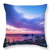Purple Morning Throw Pillow